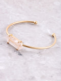 Quartz Tipped Cuff Bracelet Anarchy Street Gold