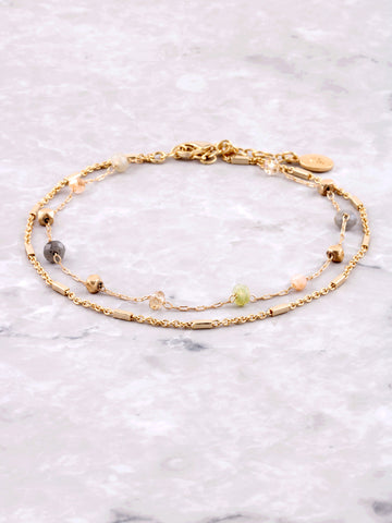 Gemstone Anklet Anarchy Street Gold
