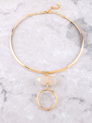 Crystal Loop Collar Choker Anarchy Street Gold