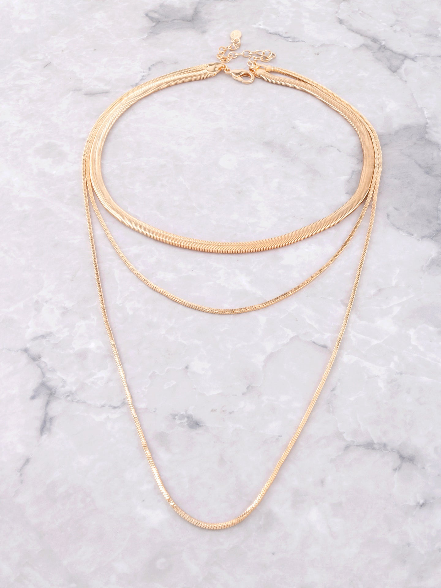 Snake Chain Layered Choker Anarchy Street Gold