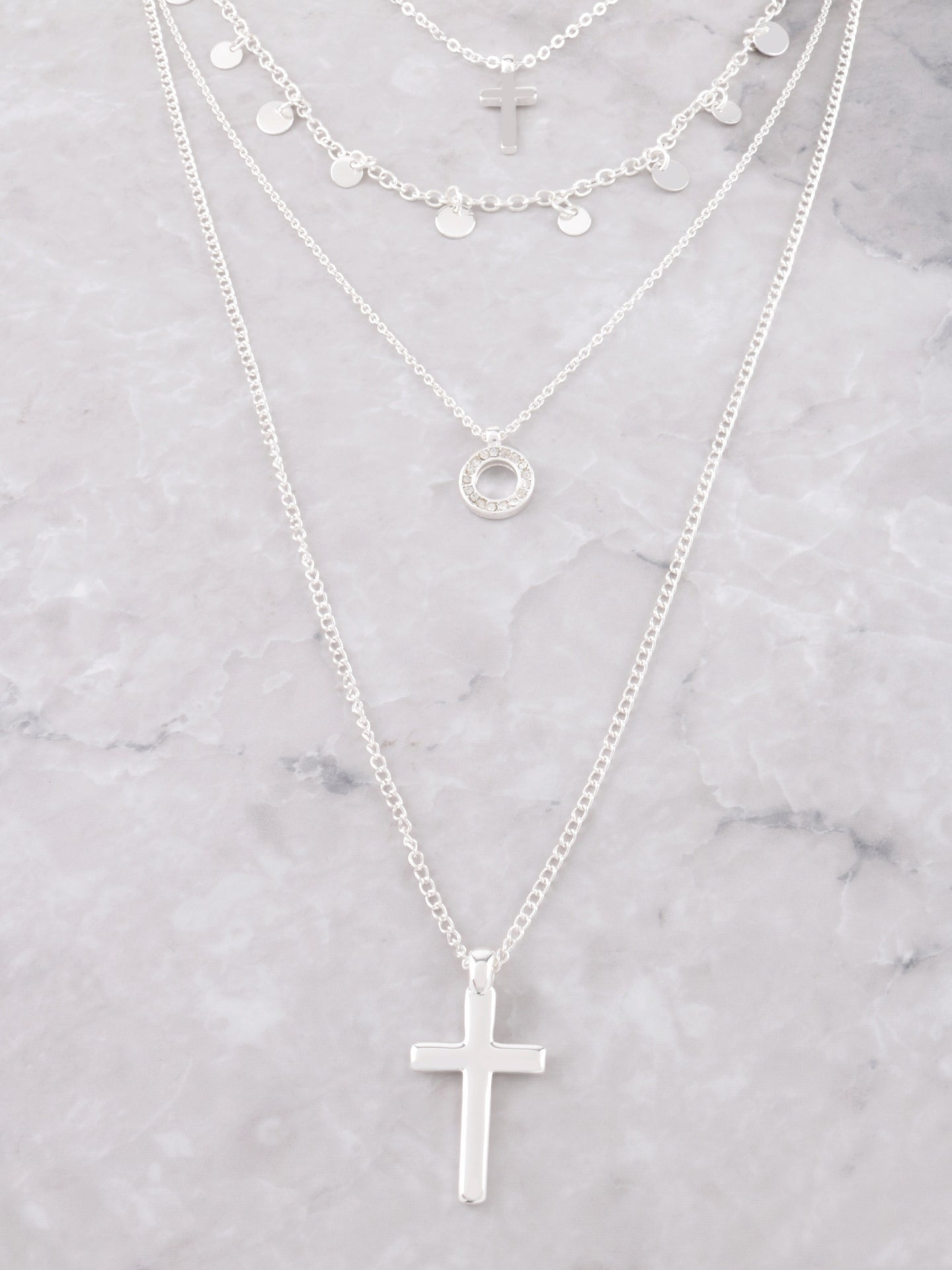 Blessed Layered Choker Anarchy Street Silver - Details