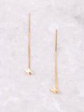 Lightning Bolt Threader Earrings Anarchy Street Gold - Details