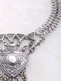 Linked Medallion Necklace Anarchy Street Silver - Details