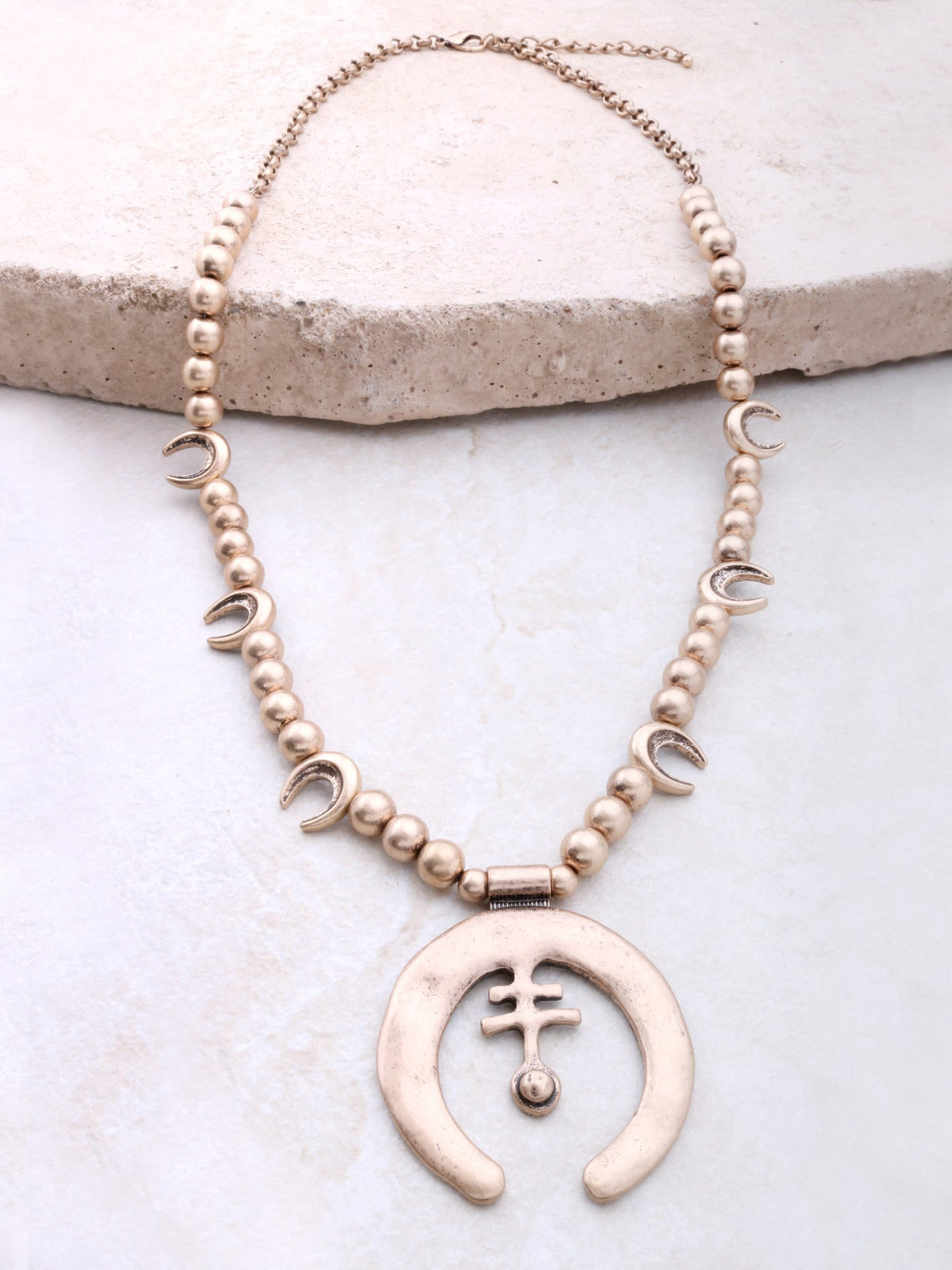 Desert Symbol Necklace Anarchy Street Gold