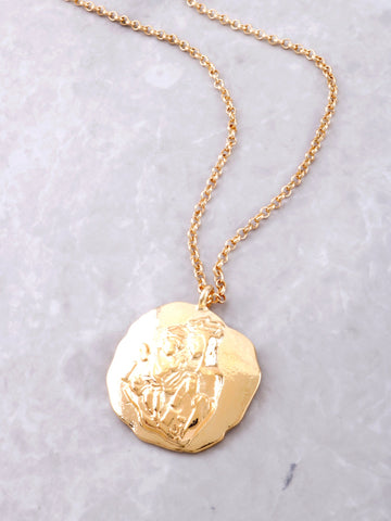 Mother Mary Necklace Set Anarchy Street Gold - Details