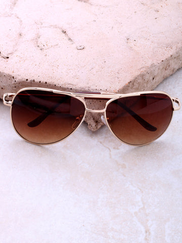 Zero Aviator Sunglasses Anarchy Street Gold_Brown_Brown