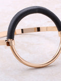 Leather Hoop Bracelet