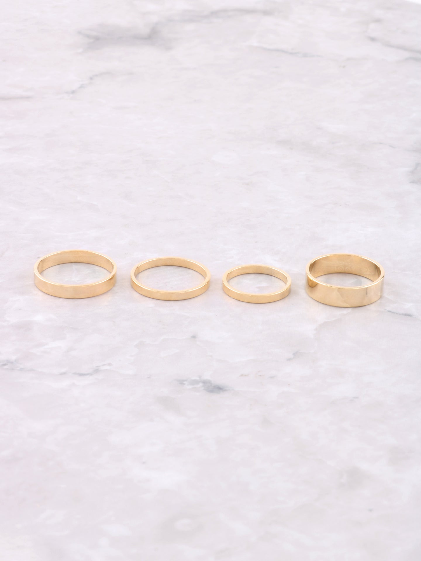 Classic Stacking Ring Set Anarchy Street Gold