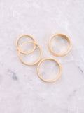 Classic Stacking Ring Set Anarchy Street Gold - Details 1