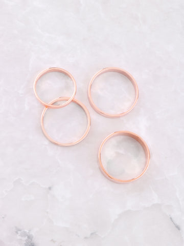 Classic Stacking Ring Set Anarchy Street Rosegold - Details 1