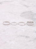 Classic Stacking Ring Set Anarchy Street Silver