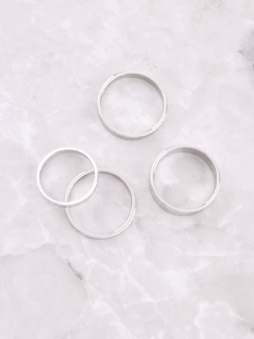 Classic Stacking Ring Set Anarchy Street Silver - Details 1