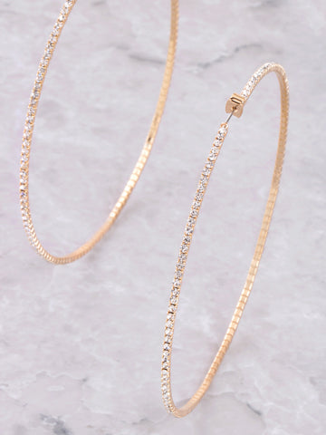 Crystal Hoop Earrings Anarchy Street Gold - Details