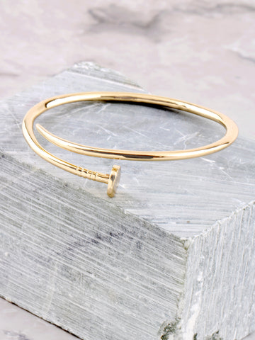Nail'D It Bracelet Anarchy Street Gold