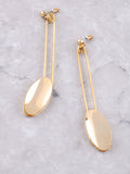 Oval Dangle Earring Anarchy Street Gold