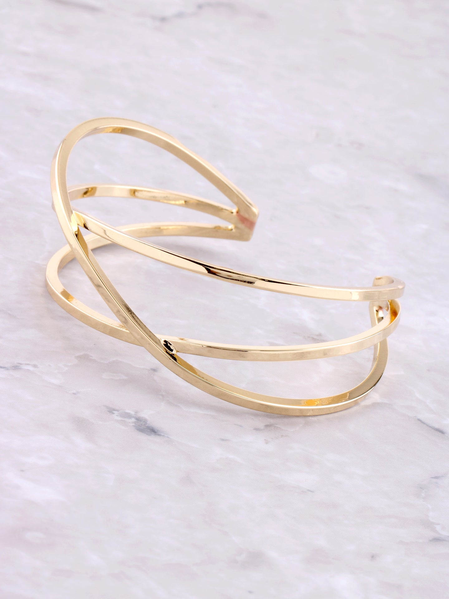 Criss Cross Cuff Bracelet Anarchy Street Gold