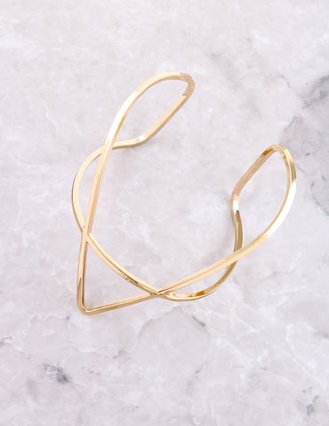 Pointed Cuff Bracelet Anarchy Street Gold