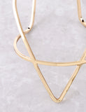 Pointed Cuff Bracelet Anarchy Street Gold - Details