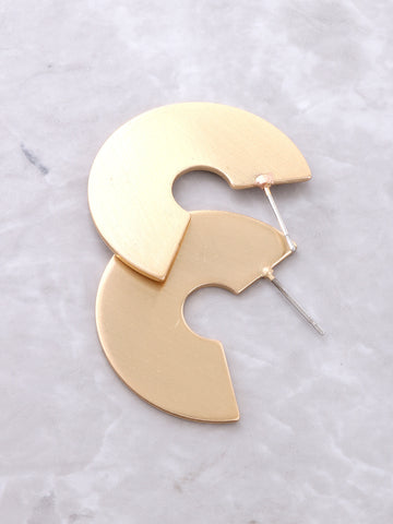 Half Disk Earrings Anarchy Street Gold - Details