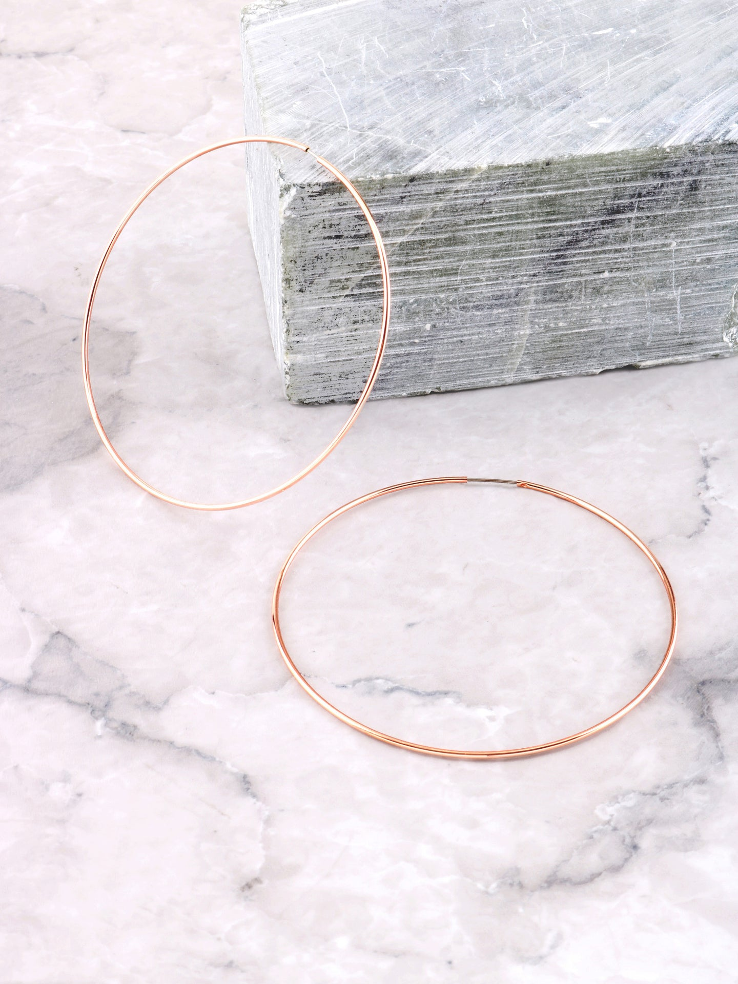 Rose Hoops Earrings Anarchy Street Rosegold