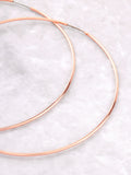 Rose Hoops Earrings Anarchy Street Rosegold - Details