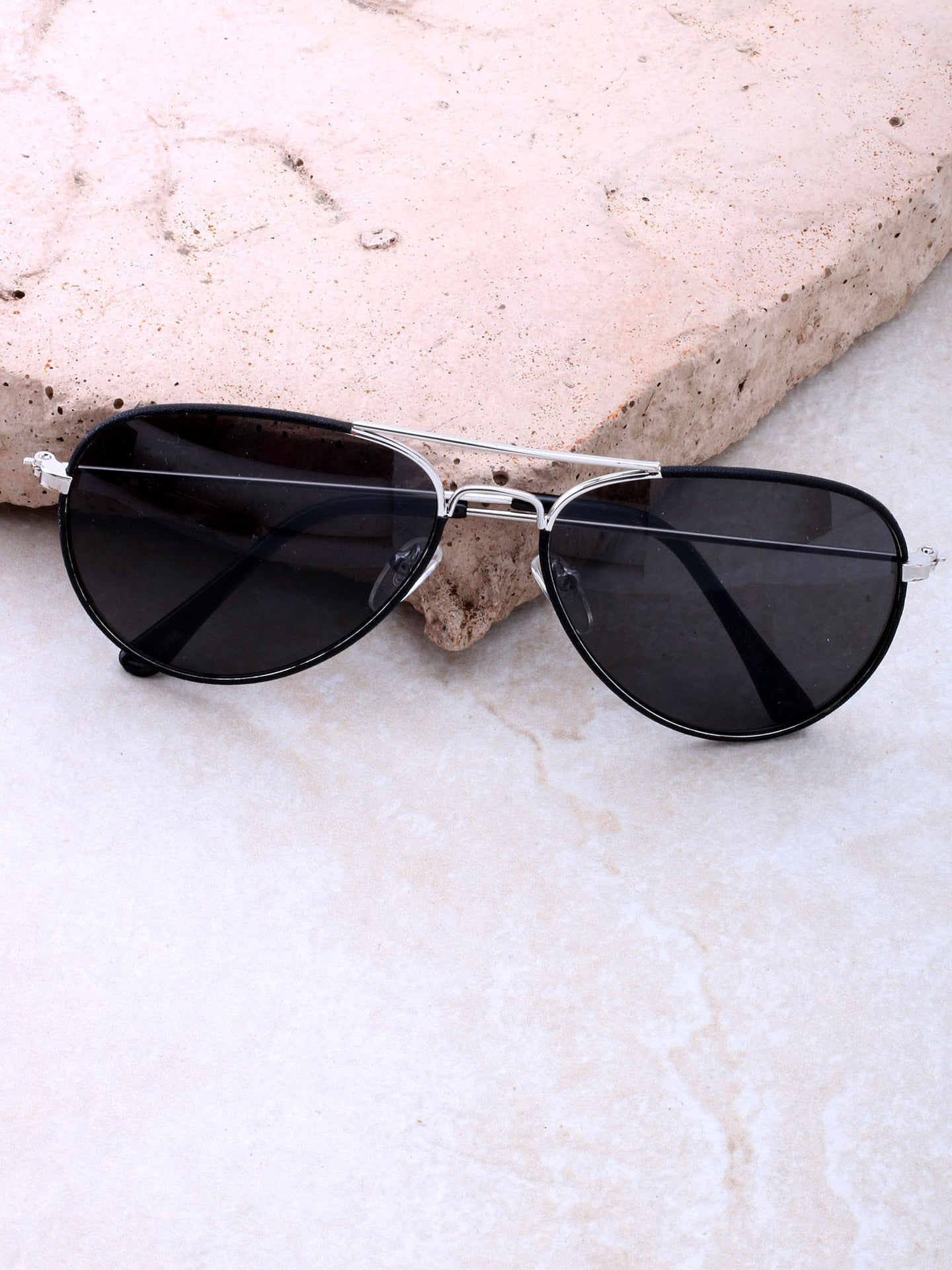 Odyssey Aviator Sunglasses Anarchy Street Black_Black_Silver