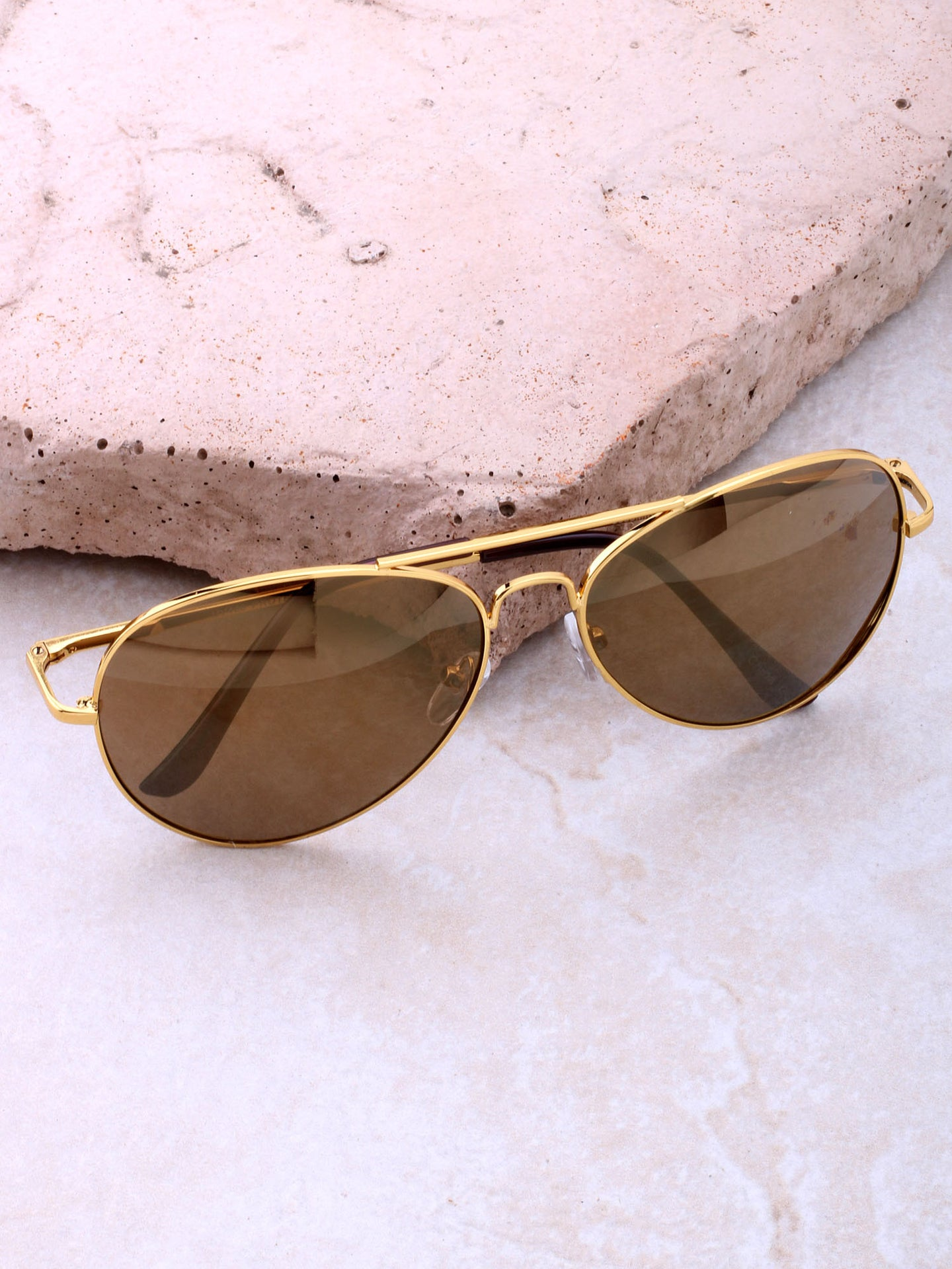 Zeus Aviator Sunglasses Anarchy Street Gold_Gold