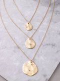 Hammered Coin Layered Necklace Anarchy Street Gold