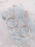 Moon & Star Hanging Hoop Earring Anarchy Street Rosegold