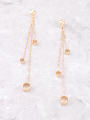 Cylinder Dangle Earrings Anarchy Street Gold