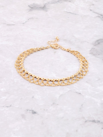 Criss Cross Chain Anklet