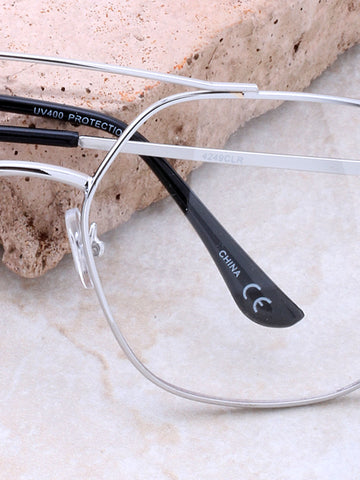 Read Me Clear Sunglasses Anarchy Street Silver_Clear_Black - Details