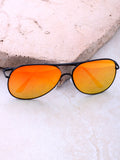 Low Tide Aviator Sunglasses Anarchy Street Black_Yellow-Orange
