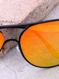 Low Tide Aviator Sunglasses Anarchy Street Black_Yellow-Orange - Details