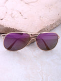 Low Tide Aviator Sunglasses Anarchy Street Gold_Purple