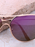 Low Tide Aviator Sunglasses Anarchy Street Gold_Purple - Details
