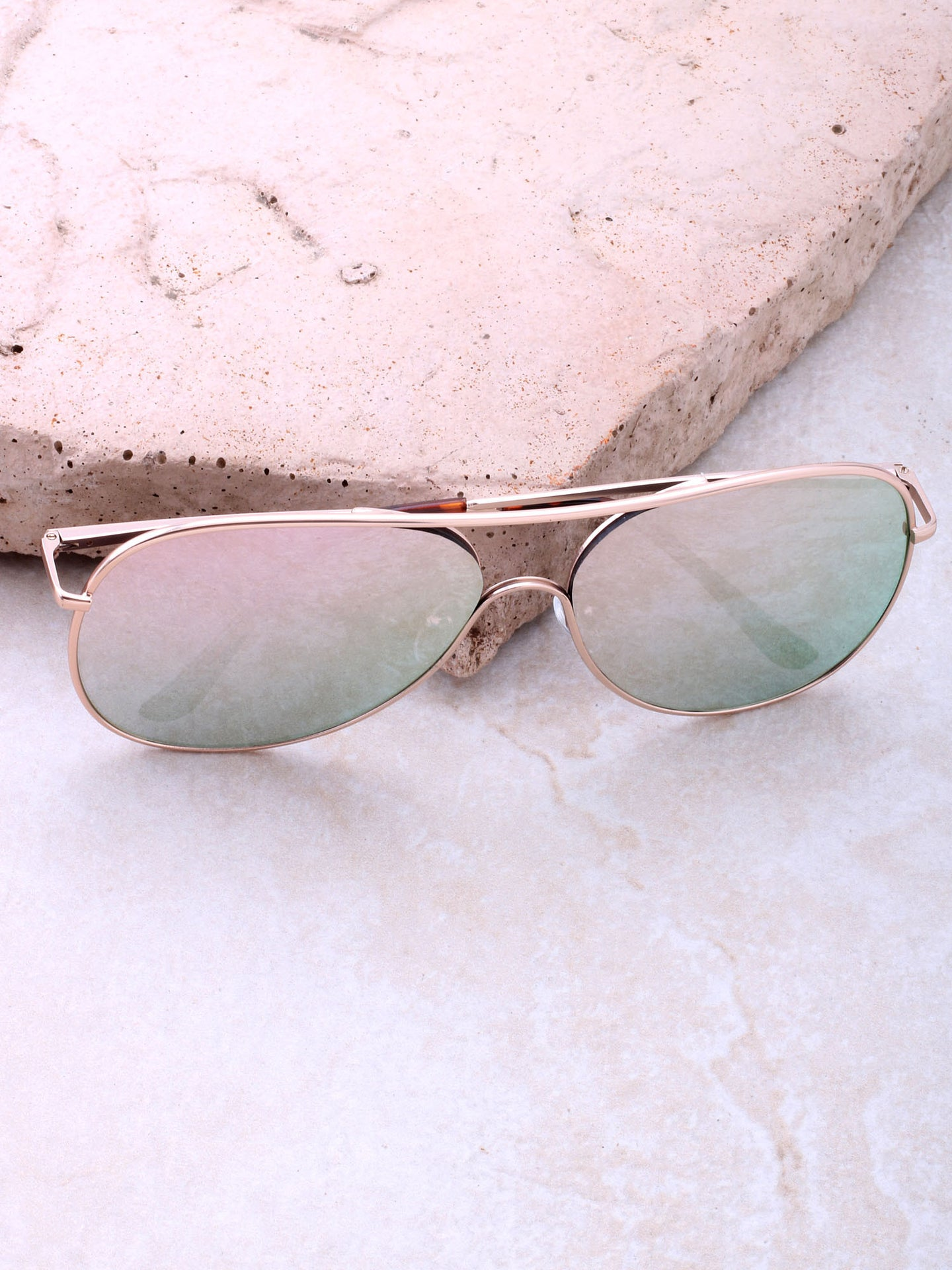 Low Tide Aviator Sunglasses Anarchy Street Gold_Rose