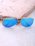 Low Tide Aviator Sunglasses Anarchy Street Silver_Blue