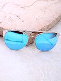 Eclipse Cat Eye Sunglasses Anarchy Street Silver_Blue