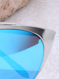 Eclipse Cat Eye Sunglasses Anarchy Street Silver_Blue - Details