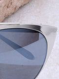 Eclipse Cat Eye Sunglasses Anarchy Street Silver_Gray - Details