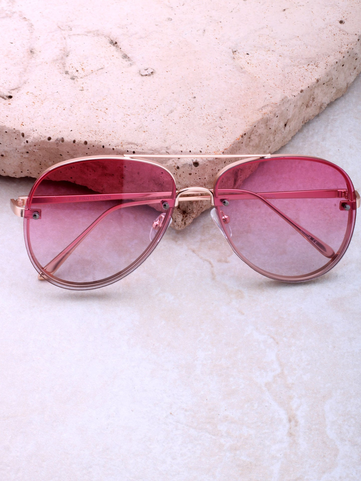 Paradise Aviator Sunglasses Anarchy Street Gold_Pink
