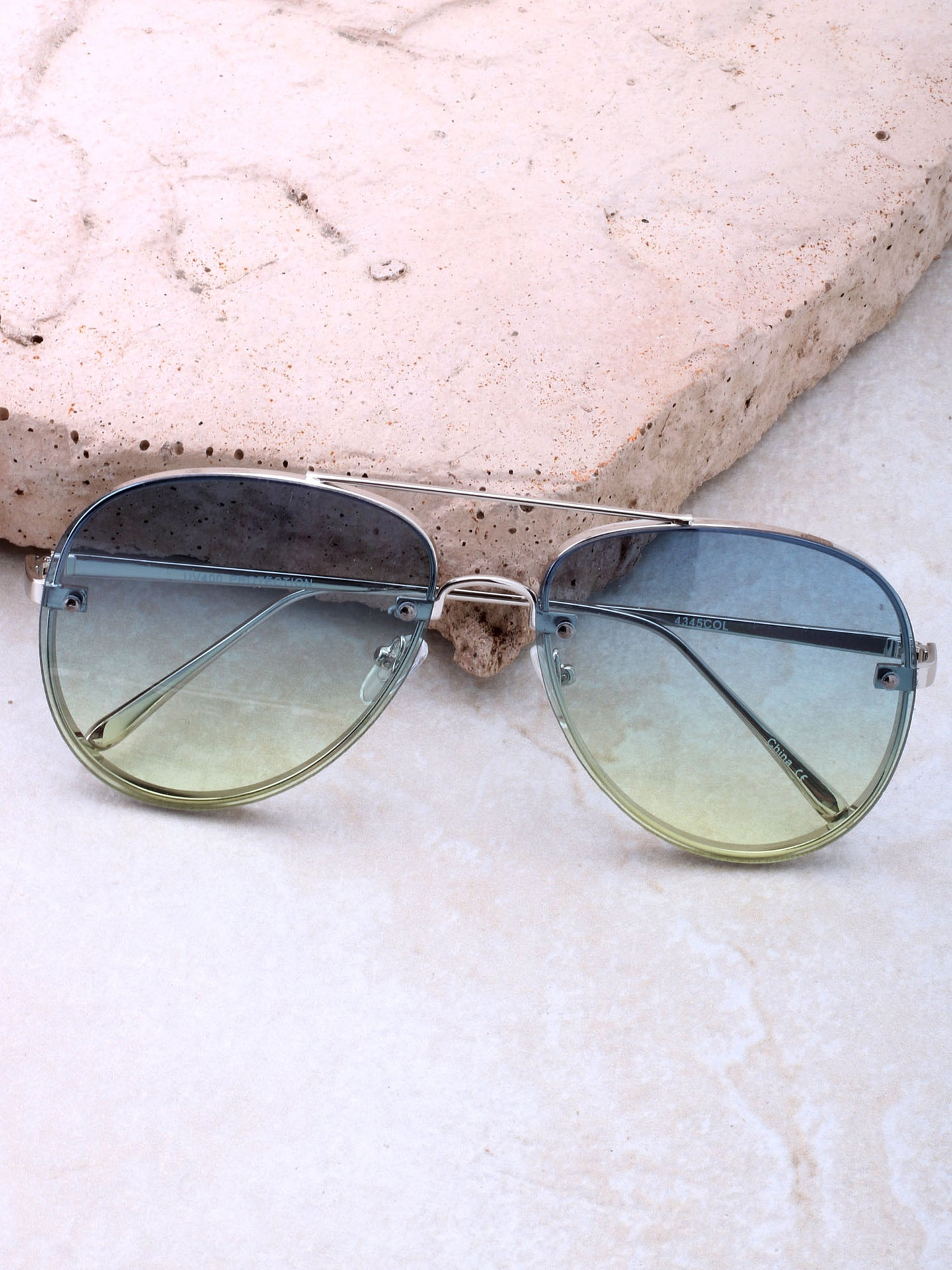Paradise Aviator Sunglasses Anarchy Street Silver_Blue-Green