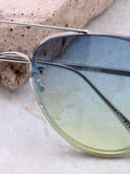 Paradise Aviator Sunglasses Anarchy Street Silver_Blue-Green - Details