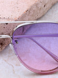 Paradise Aviator Sunglasses Anarchy Street Silver_Purple - Details