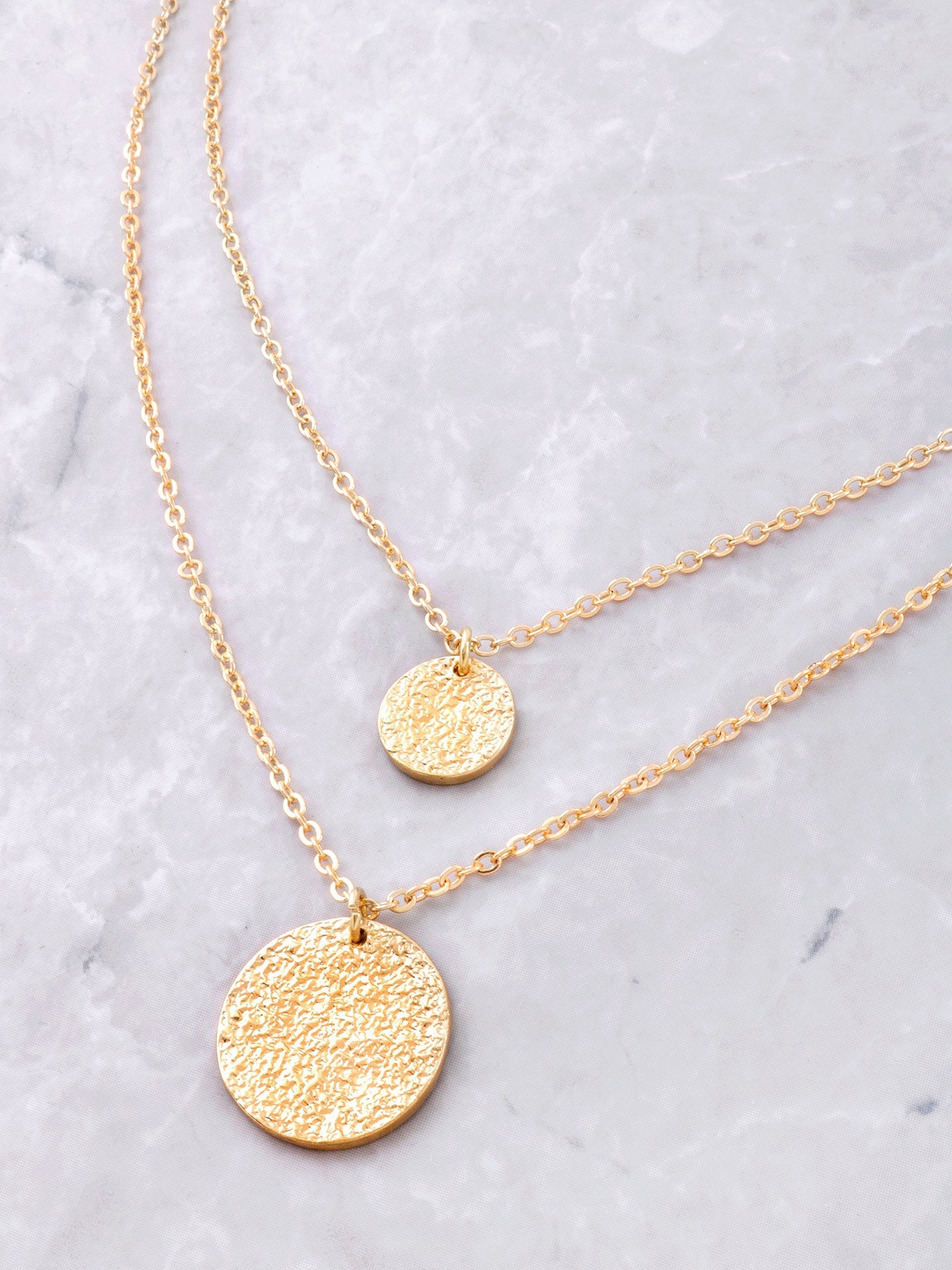 Double Coin Necklace Set Anarchy Street Gold