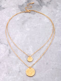 Double Coin Necklace Set Anarchy Street Gold - Details