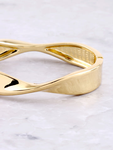 Twisted Hinge Bracelet Anarchy Street Gold - Details