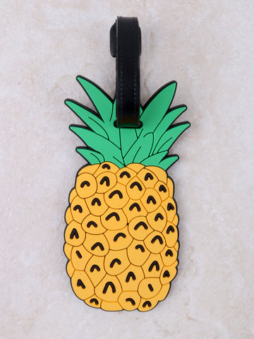 Pineapple Luggage Tag Anarchy Street Yellow