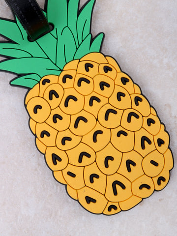 Pineapple Luggage Tag Anarchy Street Yellow - Details